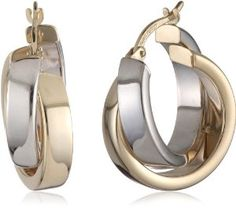 Duragold 14k Yellow Gold or White Gold or Two-Tone Satin and Polished Crossover Hoop Earrings  List Price: 	$800.00  Price: 	$249.99 FREE One-Day Shipping & Free Returns Details  You Save: 	$550.01 (69%)