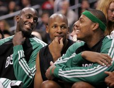 "KG: ""Who's old now? Do you think we're old, Ray?""  Ray:  ""Nah. Not at all.""  #Celtics"