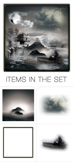 """Home On The Lake"" by loves-elephants ❤ liked on Polyvore featuring art"