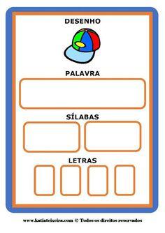 Fichas consciência fonológica ~ Espaço Professor Public School, Pre School, Conscience, English Words, Homeschool, Classroom, Teaching, Writing, Math