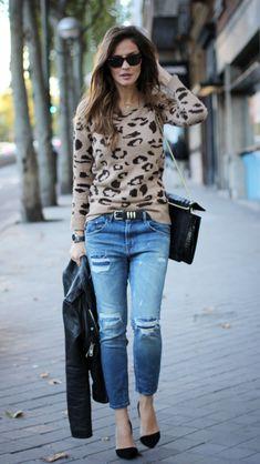 Silvia de lady addict con jerseis y bolso de Ewigem
