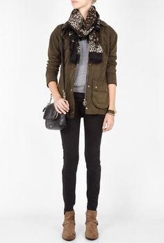 Olive Vintage Beadnell Jacket by Barbour
