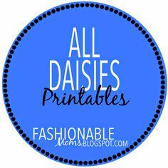 Fashionable Moms: Daisies Printables