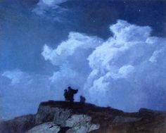 Le Prince Lointain: Edward Potthast (1857-1927), At The Summit, Moonli...