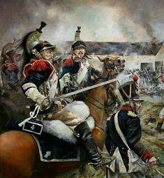 Battle Of Waterloo, Napoleonic Wars, Helmets, Empire, Pose, France, History, Illustration, Painting