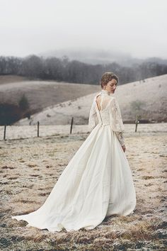 RESERVED FOR RICA Vintage 1970's Boho Anne of Green Gables Inspired Wedding Dress by FoxberryFarm, $450.00