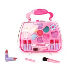 Girls Makeup Set, Little Girls Makeup, Little Girl Toys, Toys For Girls, Kids Toys, Children Games, Kids Girls, Makeup Games For Kids, Kids Makeup