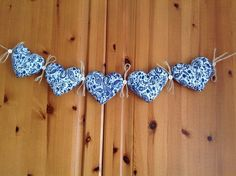 A personal favourite from my Etsy shop https://www.etsy.com/uk/listing/225671121/white-blue-paisley-liberty-bunting