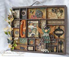 Gorgeous Steampunk tray made by the talented Gloria Stengel.