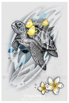 Sea Turtle by hatefueled on DeviantArt – Tattoo Sketches & Tattoo Drawings Marquesan Tattoos, Maori Tattoos, Body Art Tattoos, Tribal Tattoos, Tattos, Hawaiianisches Tattoo, Tatoo Art, Armband Tattoo, Sea Tattoo Sleeve