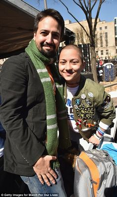 Lin-Manuel Miranda and Emma Gonzalez.- great to see the active young exposing the hypocrisy of the gun lobby ! Keep up the pressure it is gaining HUGE momentum with support from around the World ! Change The World, In This World, Good People, Amazing People, Hamilton Lin Manuel Miranda, March For Our Lives, Aerial Images, Brave New World, Faith In Humanity
