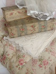lovely fabric covered boxes