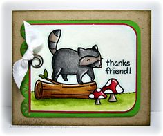 Annie Rose Makes Things: Thanks Friend! a Lawn Fawn card