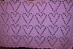 Baby+girl+purple/pink+crib+blanket+34.5x30+by+JackintheBoxCrochet,+$45.00