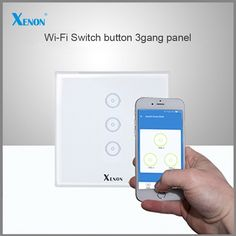 42.00$  Buy here - http://alints.shopchina.info/go.php?t=32794217034 - Manufacturer Xenon Wall Switch work with Amazon Alexa Smart Wi-Fi Switch button Glass Panel 3-gang EU Touch Light Switch panel  #aliexpress