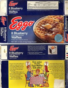 Kellogg's Eggo Waffles Box back | Recent Photos The Commons Getty Collection Galleries World Map App ...