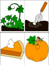 story sequencing worksheets - to use with the pumpkin mini-book