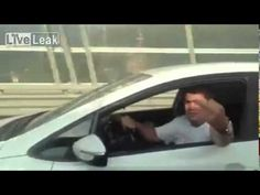 Stupid guy trying to fight from car, loses him phone to the wind, like and share this!
