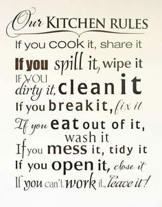 Kitchen Quote.