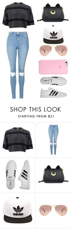 """//My Style// -31-"" by ashyrosepetal on Polyvore featuring Brunello Cucinelli, Topshop, adidas, Usagi and Ray-Ban"