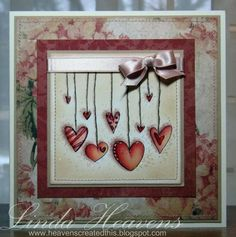 Hanging Hearts by bessieheav - Cards and Paper Crafts at Splitcoaststampers