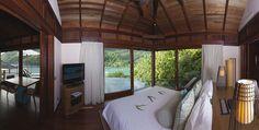 Hôtel Constance Ephelia Resort (Seychelles) - Situées sur la plage nord de Port Launay, ces villas à deux chambres offrent le nec plus ultra en matière d'hébergement.  Chacune est agencée de façon spacieuse et décorée avec élégance avec de vastes salles de bains particulières, piscine privée, une pergola pour la relaxation et les apéritifs.