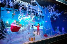 """The popular department store in Herald Square unveils its holiday windows with a """"Dream. School Christmas Party, New York Christmas, Magical Christmas, Holiday Store, Holiday Parties, Christmas Window Display, Christmas Decorations, Store Window Displays, New York City"""