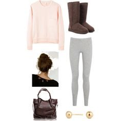 A fashion look from September 2013 featuring crew-neck sweaters, grey leggings and UGG. Tumblr Fashion, Teen Fashion, Fashion Bags, Fashion Show, Winter Fashion 2014, Fall Winter Outfits, Spring Outfits, Outfits For Teens, Cute Outfits