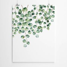 Silver Dollar Eucalyptus Wall Art Abstract Canvas Art, Acrylic Painting Canvas, Leaf Prints, Wall Art Prints, Art Mural Floral, Lotus Flower Art, Somerset, Pink Wall Art, Watercolor Walls