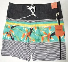 20d0160ff8 Beach, Swimwear · Mossimo Below Knee Board Shorts Swim Trunks Tropic Green  Hawaiian 38 Waist NWT #Mossimo #