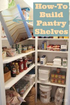 DIY pantry shelves ~ if I ever have a big enough space I am so going to do this! http://www.hometalk.com/l/Jih