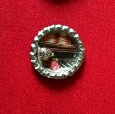 Joli pendentif capsule de bière et image piano : Pendentif par tine-creations