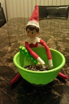 Elf on the Shelf is hungry for some cereal .