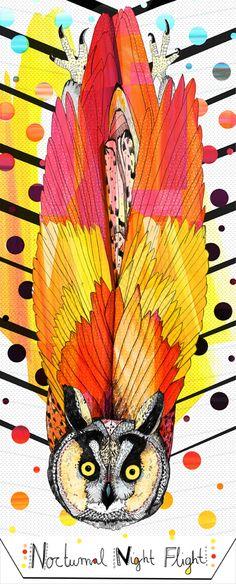 Owl Illustration #Owl #Illustration #art