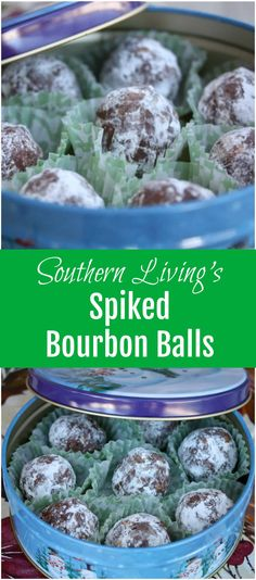 A classic holiday cookie recipe for no-bake spiked bourbon balls from Southern Living to share with friends and family. via @aggieskitchen