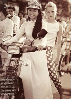Kate Moss photographed in Vietnam by Bruce Weber for US VOGUE June 1996 | Fashion Editor Brana Wolf.