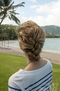 Hair Romance - Tucked French Braid hairstyle how to
