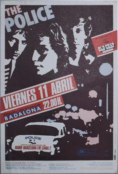 THE POLICE, Viernes 11 de abril 1980 Barcelona