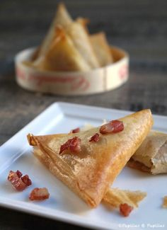 Camembert Bricks and smoked bacon - Breakfast Recipes Tapas, No Salt Recipes, Cooking Recipes, Keto Recipes, Delicious Breakfast Recipes, Dessert Recipes, Food Porn, Smoked Bacon, Bacon Bacon