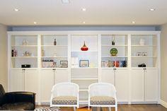 ikea billy shelves= built ins
