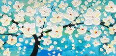 PAINTING: Blossoming Tree (Close Up)