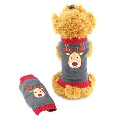 Warm Christmas reindeer dog knit sweater //Price: $10.95 & FREE Shipping //     #puppylovers