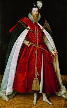 """Marcus Gheeraerts le Jeune, """"Robert Devereux"""", vers 1597, 218 x 127,2 cm, huile sur toile, National Portrait Gallery, Londres"""