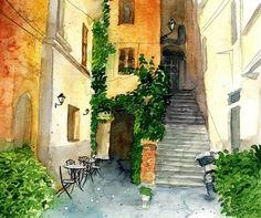 Architektura - Krzysztof Kowalski - Watercolors