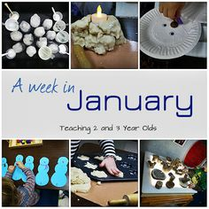 Teaching 2 and 3 Year Olds: What we did our first week in January