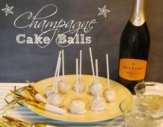 Champagne Cake Pops Champagne Cake Pops – The TipToe Fairy - Fresh Drinks Champagne Drinks, Champagne Cake, Cake Mix Recipes, Sweets Recipes, Delicious Desserts, Yummy Food, Recipes From Heaven, Christmas Desserts, Cake Pops