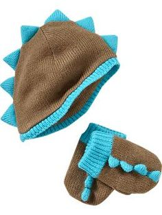 Dinosaur Hat and Mitten Set for Baby Boy from Old Navy $11.36