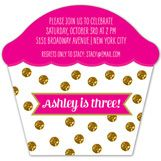 Your darling child is turning three this year. Order these adorable invites for their upcoming turning