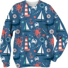 Nautical Blue sweatshirt from Print All Over Me