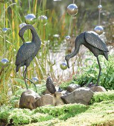Fishing #Heron Fountain #GrandGardens
